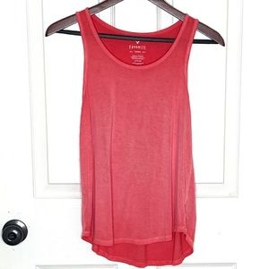 AEO Coral Favorite Tank Sun-dyed Size Small